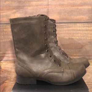 Soda Combat Stone Grey Brown Lace Up